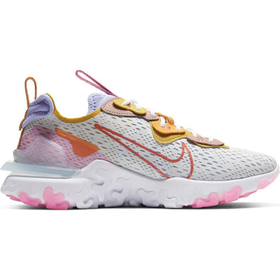 WMNS NIKE REACT VISION - PURE PLATINUM/RUST FACTOR-LIGHT THISTLE