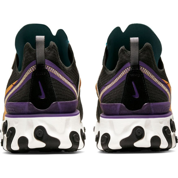 MEN'S NIKE REACT ELEMENT 55 - BLACK/POLLEN RISE-MINERAL TEAL
