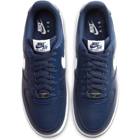 MEN'S NIKE AIR FORCE 1 '07- MIDNIGHT NAVY/WHITE