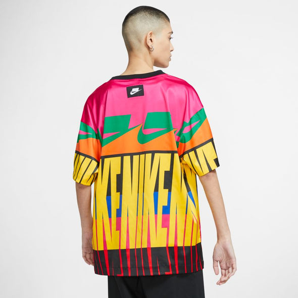 WMNS NIKE SPORTSWEAR NSW SHORT-SLEEVE PRINTED TOP - SPEED YELLOW/BLACK