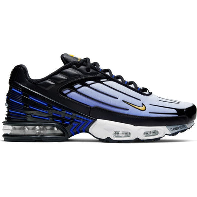 MEN'S NIKE AIR MAX PLUS III - BLACK/CHAMOIS-HYPER BLUE-WHITE