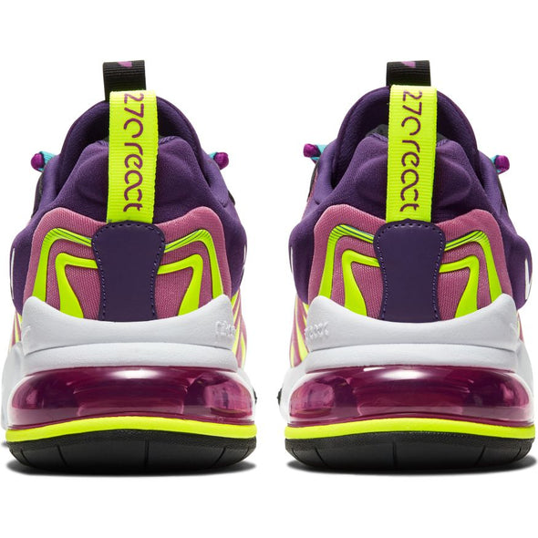WMNS NIKE AIR MAX 270 REACT ENG - EGGPLANT/WHITE-MAGIC FLAMINGO