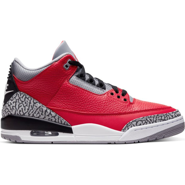 MEN'S AIR JORDAN 3 RETRO SE - FIRE RED/FIRE RED-CEMENT GREY-BLACK