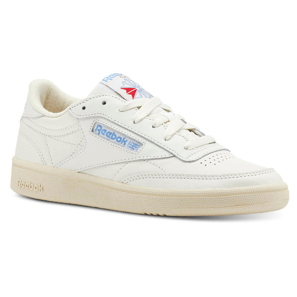 best prices so cheap no sale tax WOMEN'S REEBOK CLASSICS CLUB C 85 - Vintage-Chalk / Paper Wht / Athletic  Blue / Exc Red