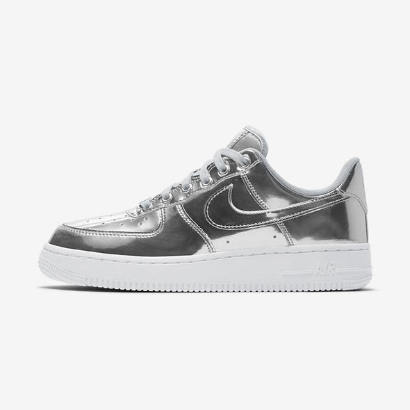 WMNS NIKE AIR FORCE 1 SP - CHROME/METALLIC SILVER-WHITE