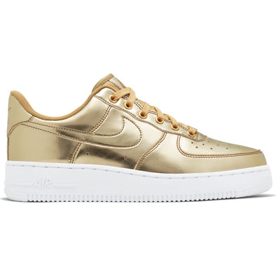 WMNS NIKE AIR FORCE 1 SP - METALLIC GOLD/CLUB GOLD-WHITE