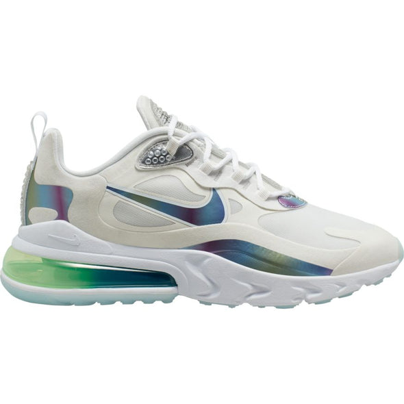 MEN'S NIKE AIR MAX 270 REACT 20 - SUMMIT WHITE/MULTI-COLOR-PLATINUM TINT