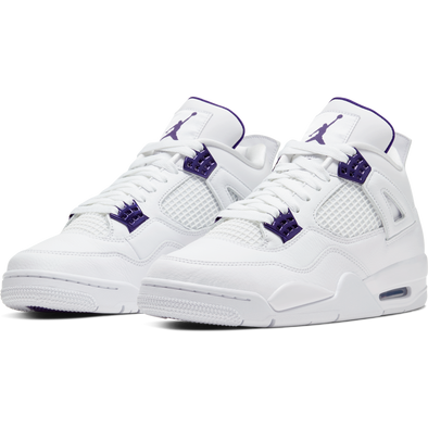 AIR JORDAN 4 - WHITE/COURT PURPLE-METALLIC SILVER