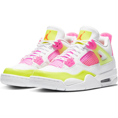 BIG KID'S AIR JORDAN 4 RETRO SE - WHITE/WHITE-LEMON VENOM-PINK BLAST