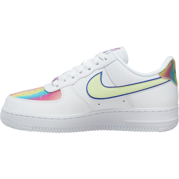 WMNS NIKE AIR FORCE 1 EASTER - WHITE/BARELY VOLT-HYPER BLUE