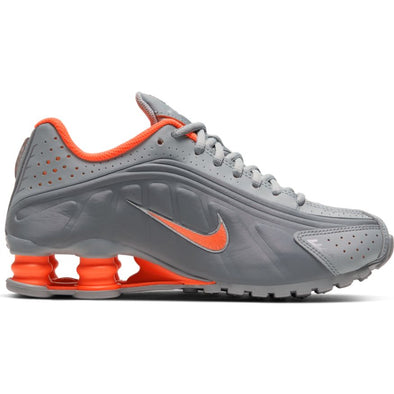 NIKE SHOX R4 (GS) - LT SMOKE GREY/HYPER CRIMSON