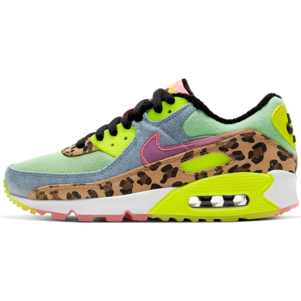 WMNS NIKE AIR MAX 90 LX - ILLUSION GREEN/SUNSET PULSE-BLACK-WHITE