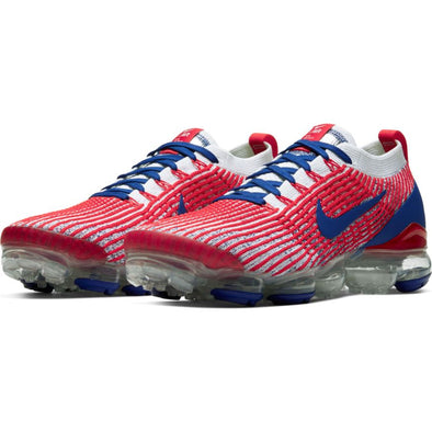 NIKE AIR VAPORMAX FLYKNIT 3 USA WHITE/DEEP ROYAL BLUE-UNIVERSITY RED Footwear