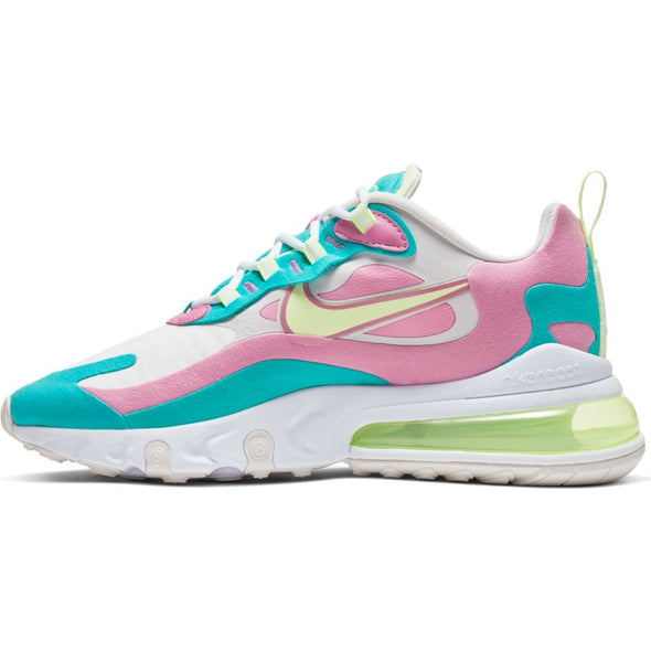 WMNS AIR MAX 270 REACT - WHITE/BARELY VOLT-PLATINUM TINT