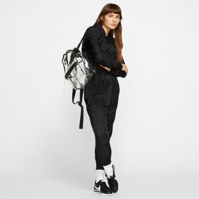 NIKE JUST DO IT BACKPACK (MINI) - CLEAR/BLACK/BLACK