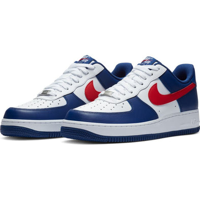 Nike Air Force 1 '07 - WHITE/ UNIVERSITY RED-DEEP ROYAL