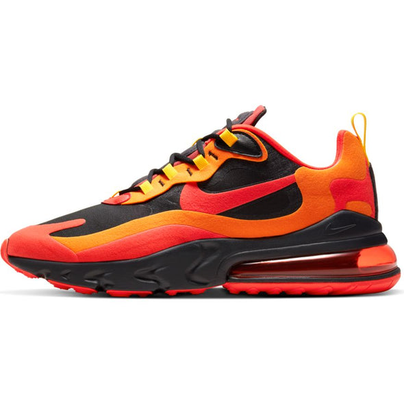 MEN'S NIKE AIR MAX 270 REACT BLACK/CHILE RED-SPEED YELLOW