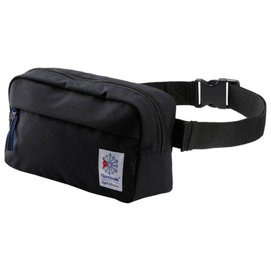 REEBOK CLASSIC THROWBACK ZIPPERED WAISTBAG - Black