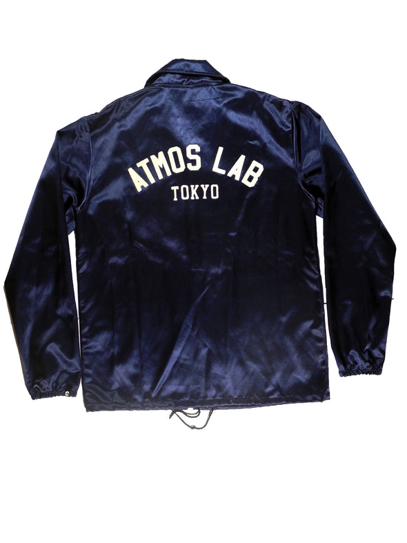 EBBETS FIELD x ATMOSLAB SATIN JACKET NAVY