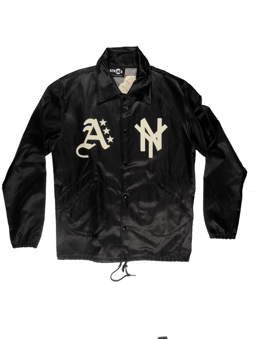 EBBETS FIELD x ATMOSLAB SATIN JACKET BLACK