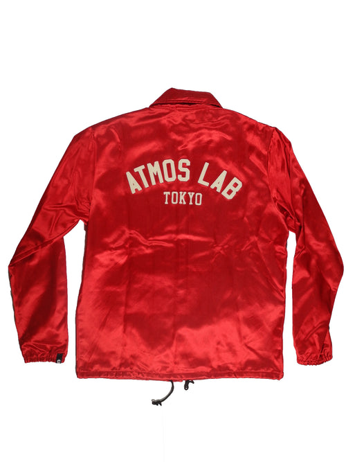EBBETS FIELD x ATMOSLAB SATIN JACKET RED