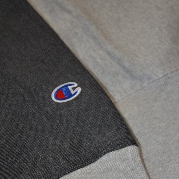CHAMPION REVERSE WEAVE COLORBLOCK HOODIE - Grey