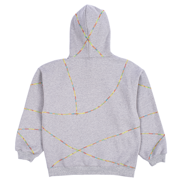 DESTROYER CONTRAST STITCH HOODY | GREY