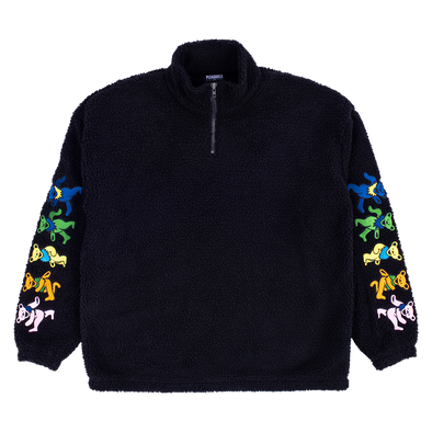 DEAD SHERPA QUARTER ZIP / BLACK
