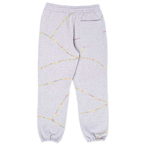 DESTROYER CONTRAST STITCH SWEATPANTS / HEATHER GREY