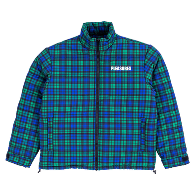 DECADES PLAID PUFFER JACKET / BLUE