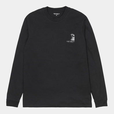 Carhartt WIP 3M Reflective Headlight Long Sleeve Tee - Black