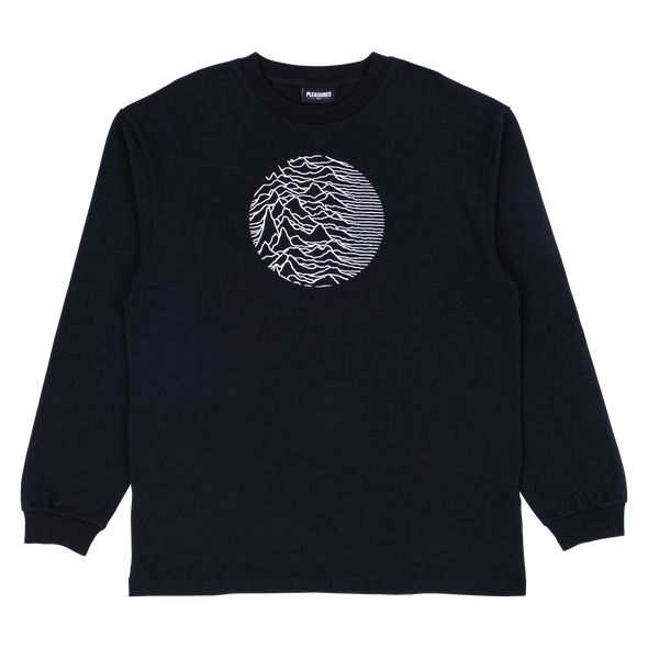 PLEASURES x JOY DIVISION LOST CONTROL HEAVYWEIGHT LONG SLEEVE - Black / White