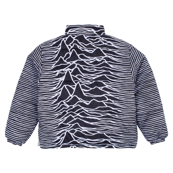 PLEASURES x JOY DIVISION REVERSIBLE DISORDER PUFFER JACKET - Black / White