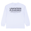 PLEASURES x JOY DIVISION LOST CONTROL HEAVYWEIGHT LONG SLEEVE - White / Black