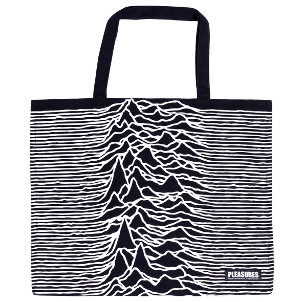 PLEASURES x JOY DIVISION WILDERNESS HEAVYWEIGHT TOTE BAG - Black / White
