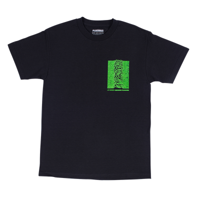 PLEASURES x JOY DIVISION UP T-SHIRT - Black / Green