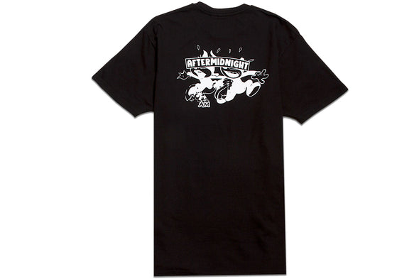 AFTER MIDNIGHT CAT TEE - Black