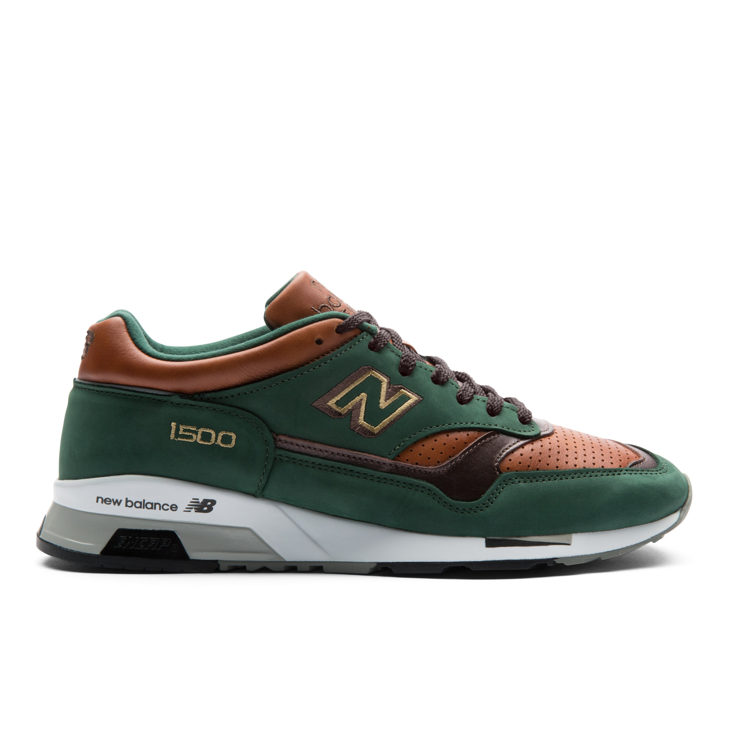 new product 43015 b97ff NEW BALANCE 1500 MADE IN UK - Green   Caramel