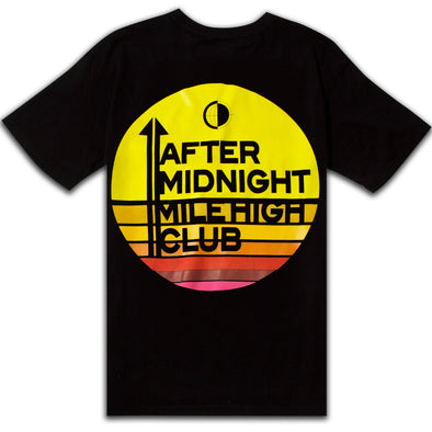 AFTER MIDNIGHT MILE HIGH CLUB S/S TEE - BLACK/MULTI