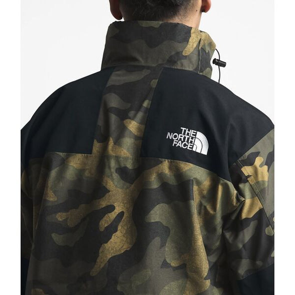 THE NORTH FACE 1990 MOUNTAIN JACKET GTX 2 - BURNT OLIVE GREEN WAXED CAMO PRINT