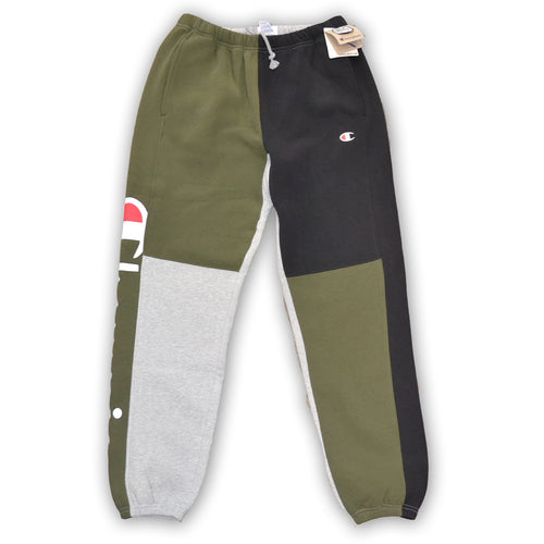 CHAMPION REVERSE WEAVE COLORBLOCK SWEATPANTS - Olive