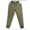 CHAMPION REVERSE WEAVE DIAGONAL SCRIPT SWEATPANTS - Olive
