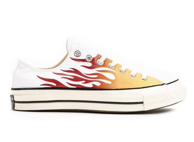 CONVERSE CHUCK 70 OX - WHITE/ENAMEL RED FLAME