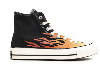 CONVERSE CHUCK 70 HI - BLACK/ENAMEL RED FLAME