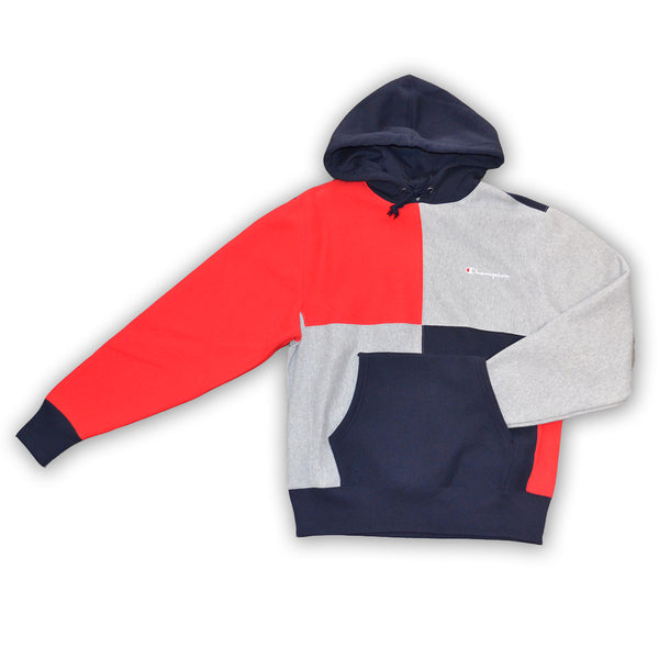 4fb0f2ecfdfe CHAMPION REVERSE WEAVE COLORBLOCK HOODIE - Navy – Atmos New York