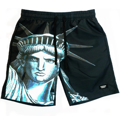CHINATOWN MARKET NYC SHORTS - BLACK