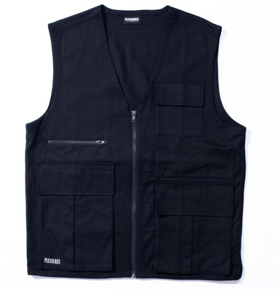PLEASURES FADE TACTICAL VEST - BLACK