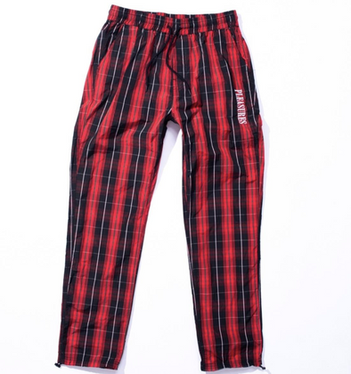 PLEASURES WONDER TRACK PANT - BLACK/RED