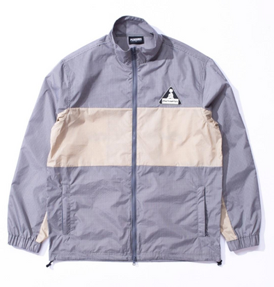 PLEASURES BRICK TECH TRACK JACKET - GREY