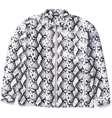 PLEASURES RAIL SNAKESKIN WORK JACKET - WHITE